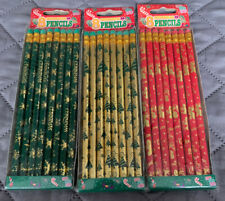 Christmas Pencils 3 Packs Total 24 Count