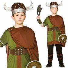 Child Boys Norse Viking Warrior Costume Fancy Dress Saxon Book Day Kids Outfit