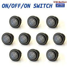 10x ON/OFF/ON 3 Position SPDT Round Rocker Switch 10A/125V 6A/250V