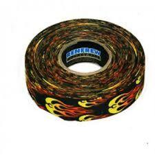New Renfrew 1 Roll Fire Flames Hockey Stick Shaft Blade Bat Sports TAPE 24mmx25m