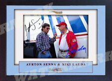 Ayrton Senna Niki Lauda signed autographed IMOLA 1994 Formula 1 GP photo Framed.