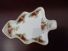 Royal Albert Old Country Roses Xmas Serving Dish / Mint Condition