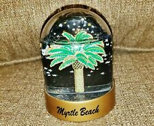 Myrtle Beach Snow Globe w/ Palmetto & Green Glitter 2-Sided - Good Condition