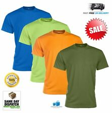 Mens Breathable Short Sleeve T-Shirt Performance Running Gym Top 45% Off RRP