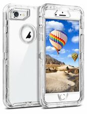 For iPhone 7/8/XS/XR/11 Plus Transparent Defender Case Rugged(Clip Fit Otterbox)