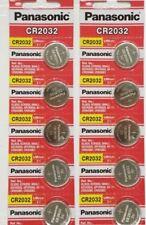 Lot of 10 Panasonic CR2032 2032 Lithium 3 Volt Battery Exp 2027 (10 pieces)