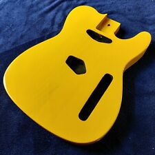 More details for new ash 44mm depth tele telecaster style guitar body trans tv yellow luthier