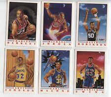 1991-92 Fleer PRO-VISIONS Insert SET Michael Jordan Magic Robinson Ewing Barkley