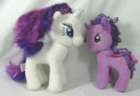 Two Small Plush My Little Pony Unicorns Twilight Sparkle and TY Rarity