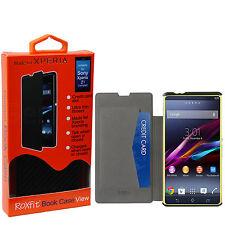 véritable ROXFIT ÉTUI PORTE-FEUILLE CARTE étui rabattable pour Sony Xperia Z1