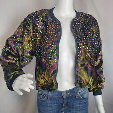 Vintage Speed Limit MPH Womens Shrug Sweater Jacket  Embellished Sequin velvet M