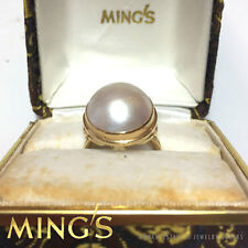 MING'S HAWAII MABE PEARL 14K YELLOW GOLD RING SIZE 5.5 SIGNED MINGS W/ BOX