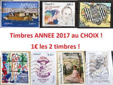 => Tous vos Timbres France Oblitérés Année 2017 Nouveautés Récents ! 1€ les 2 <=