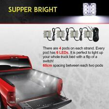 8pcs Super Bright TRUCK BED/ BOX LIGHT KIT 48 LEDs w/ Wire Bright White for Ford
