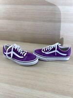 VANS Old Skool Purple Canvas/Suede Lace Up Low Top Shoes Men's 5  Women's 6.5