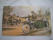 Prospekt Norton Motorräder 1923 Big Four 3 1/2 Sidecar Beiwagen Riemen BELT