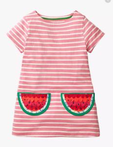New Ex Mini Boden Girls Watermelon Tunic Dress, Was £34 Now £12.99
