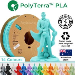 PolyTerra PLA Matte 3D Printer 1kg Filament 1.75mm & 2.85mm Polymaker Australia