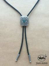 Silver Plated Celtic Lucky Cross Knot Western Cowboy Rodeo Bolo Tie