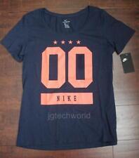 New Women Nike Tee T-shirt Top Crew Neck Top Navy Short Sleeve  AH7502 Medium M