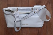 NWT Michael Kors $478 Chelsey Large Convertible Shoulder Bag Tote Purse White