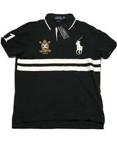 Polo Ralph Lauren Slim Fit Large Black Embroidered Big Pony Crest Polo Shirt