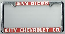 1950s San Diego California City Chevrolet Vintage GM Dealer License Plate  Frame | EBay