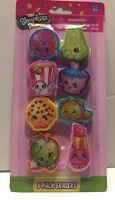 "Shopkins Erasers 8 Assorted Apple Blossom Kooky Cookie D""lish Donut"
