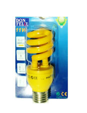 Lámpara Bombilla espiral E27 AMARILLO de bajo consumo