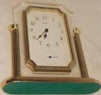 Vintage Seiko Brass Mantle Clock Made in Japan