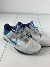 08426b6019177 Nike Zoom Kobe V 5 Draft Day 386429-100 Hornets White Purple Orion Blue Sz  11