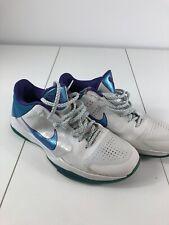 6b86d55043a7 Nike Zoom Kobe V 5 Draft Day 386429-100 Hornets White Purple Orion Blue Sz
