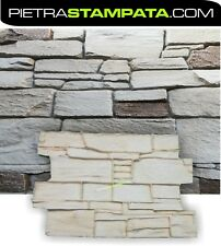 """Vertical Concrete Stamps Stacked Stone Wall Stamp """"Stelvio Mold"""" vertical mold"""