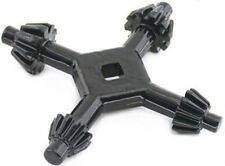 """Blackspur - 4 en 1 adaptador de llave de sujeción Broca Universal 1/4"""", 3/8"""", 1/2"""", 5/8"""""""