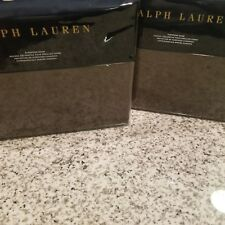 New Ralph Lauren Two European Shams- MODERN ICONS WARREN Brown Cashmere Wool