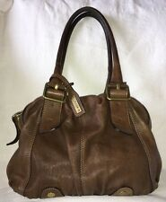 ABRO Brown SOFT Leather Shoulder Bag Purse-NICE