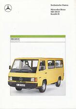 Mercedes MB 100 D Kombi II Prospekt Technische Daten 1988 3/88 Lkw brochure