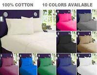 King Single Size 100% Pure Cotton 375tc High Quality Sheet Set 3pcs 10 Colour