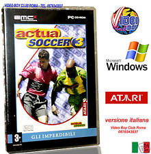 ACTUA SOCCER 3 PC CD ROM WINDOWS NUOVO CALCIO GAME