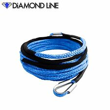 """25' x 1/4"""" Diamond Extension Synthetic Rope Line UTV SXS Winch Cable"""