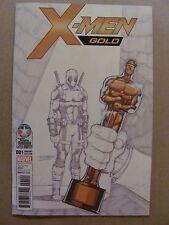 X-Men Gold #1 Marvel 2017 Rom Lim Deadpool Sketch Retailer Summit Variant 9.6 NM