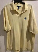 Vintage Izod Polo Golf Shirt Yellow Size XL Short Sleeve LOGO