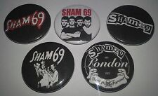 5 Sham 69 button Badges 25mm punk UK Subs Cockney Rejects Sex Pistols The Clash