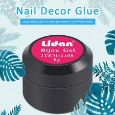DIY UV Nail Glue Decor Gems Glitter Rhinestones Sticky Adhesives Nail Art Gel 8g