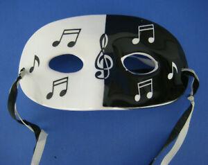 Shafford Black White Mask Musical Notes Wall Hanging Decor Ceramic Vintage