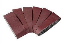 5 bandes papier de verre 75 x 533 mm pour ponceuses à bande ponçage bois