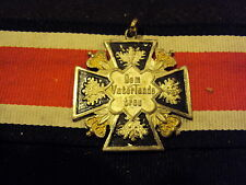 ORIG GERMAN PRUSSIAN WW1 IRON CROSS PATRIOTIC DE M VATERLANDE TREU MEDAL BADGE