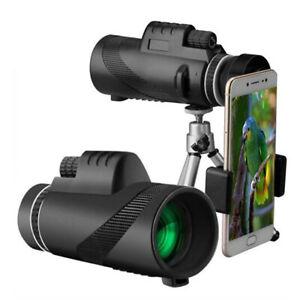 80X100 Monocular Telescope Scope Phone Camera with Tripod Bird Watching Hunting