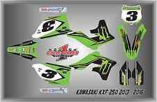 12-16 KAWASAKI KX250 KX 250F CUSTOM  GRAPHIC KITS RACE ELI