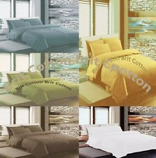 New 100% Egyptian Cotton 300 TC Duvet Cover Bedding Bed Sheets With Pillow Case